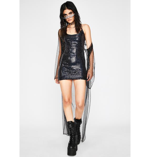 Midnight No Requests Sequin Mini Dress