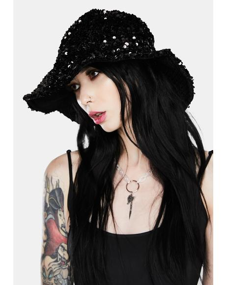 Dark Icy Magic Sequin Bucket Hat