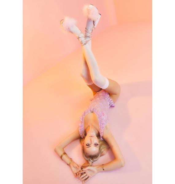 Sugar Thrillz Lavender Wedding Cake Lace Teddy