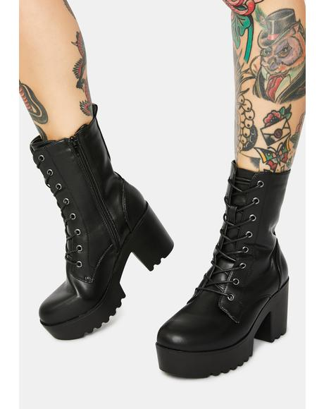 Make Your Exit Combat Boots