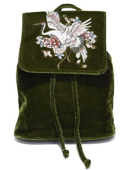 Good Fortune Velvet Backpack