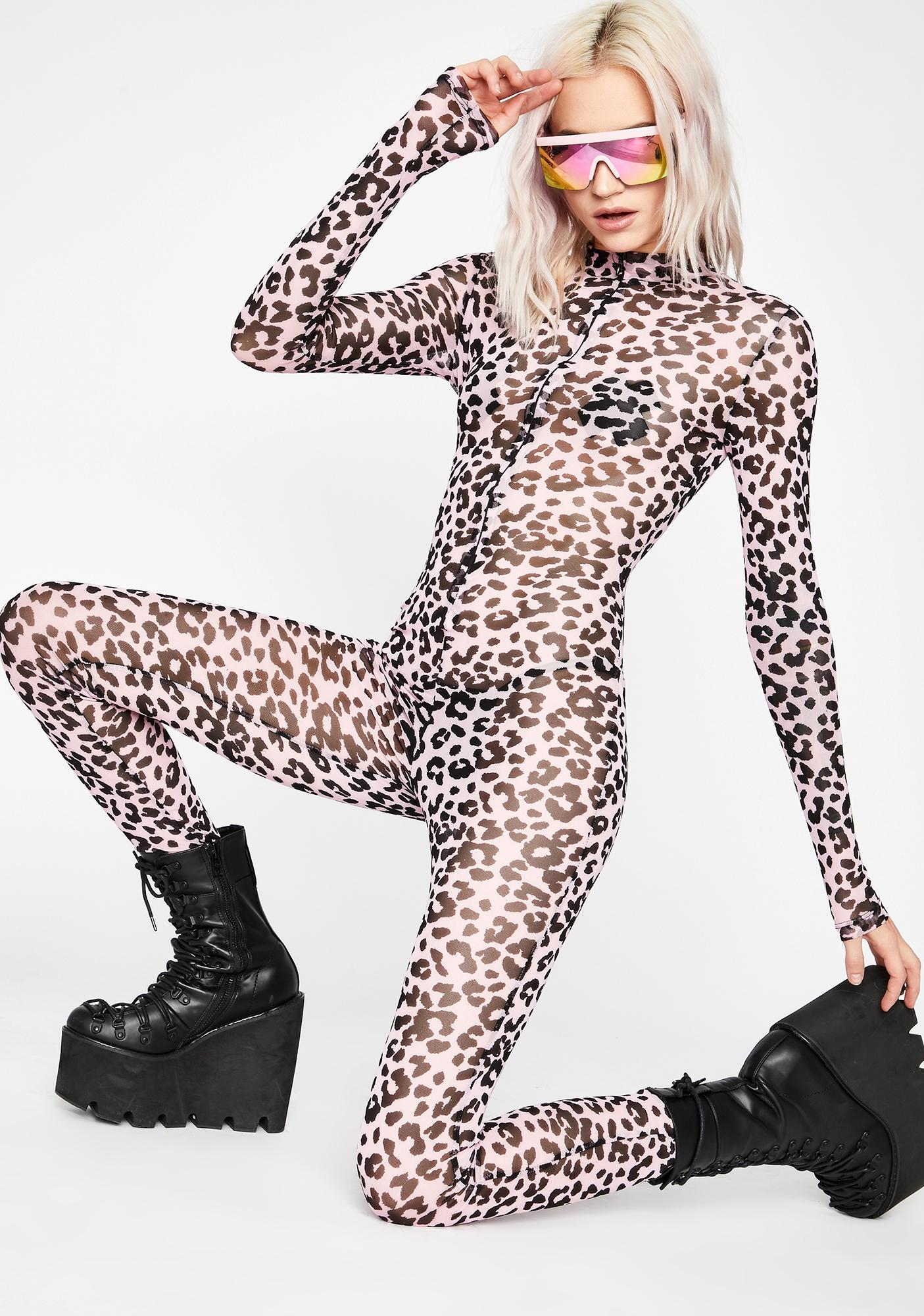 Kitty Business Mesh Catsuit