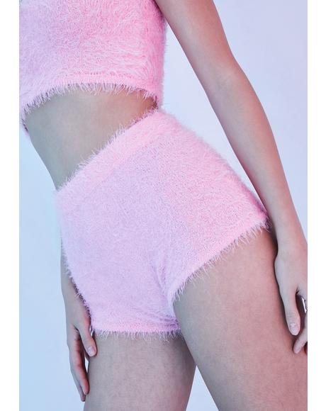 Sugar Coated Dreams Fuzzy Shorts