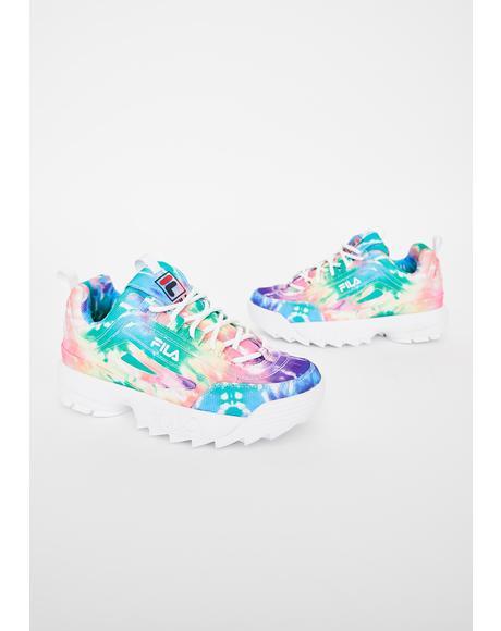 Tie Dye Disruptor II Sneakers
