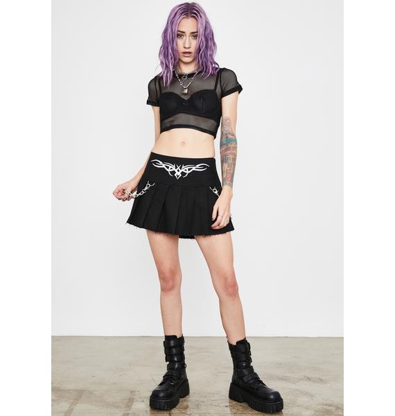 Current Mood Freak Number Pleated Skirt