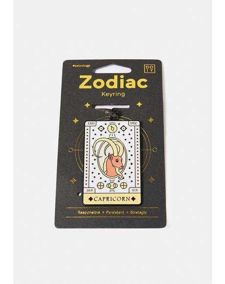 Responsible Capricorn Zodiac Keychain