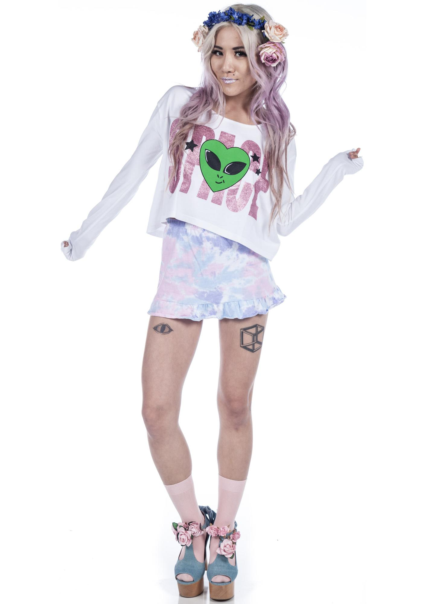 Joyrich Space Needed Cropped Tee