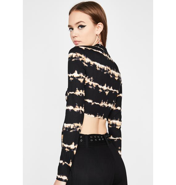 Between The Blur Cut-Out Top