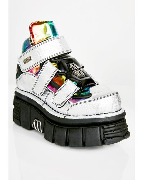 Rainbow Stomper Holo Boots