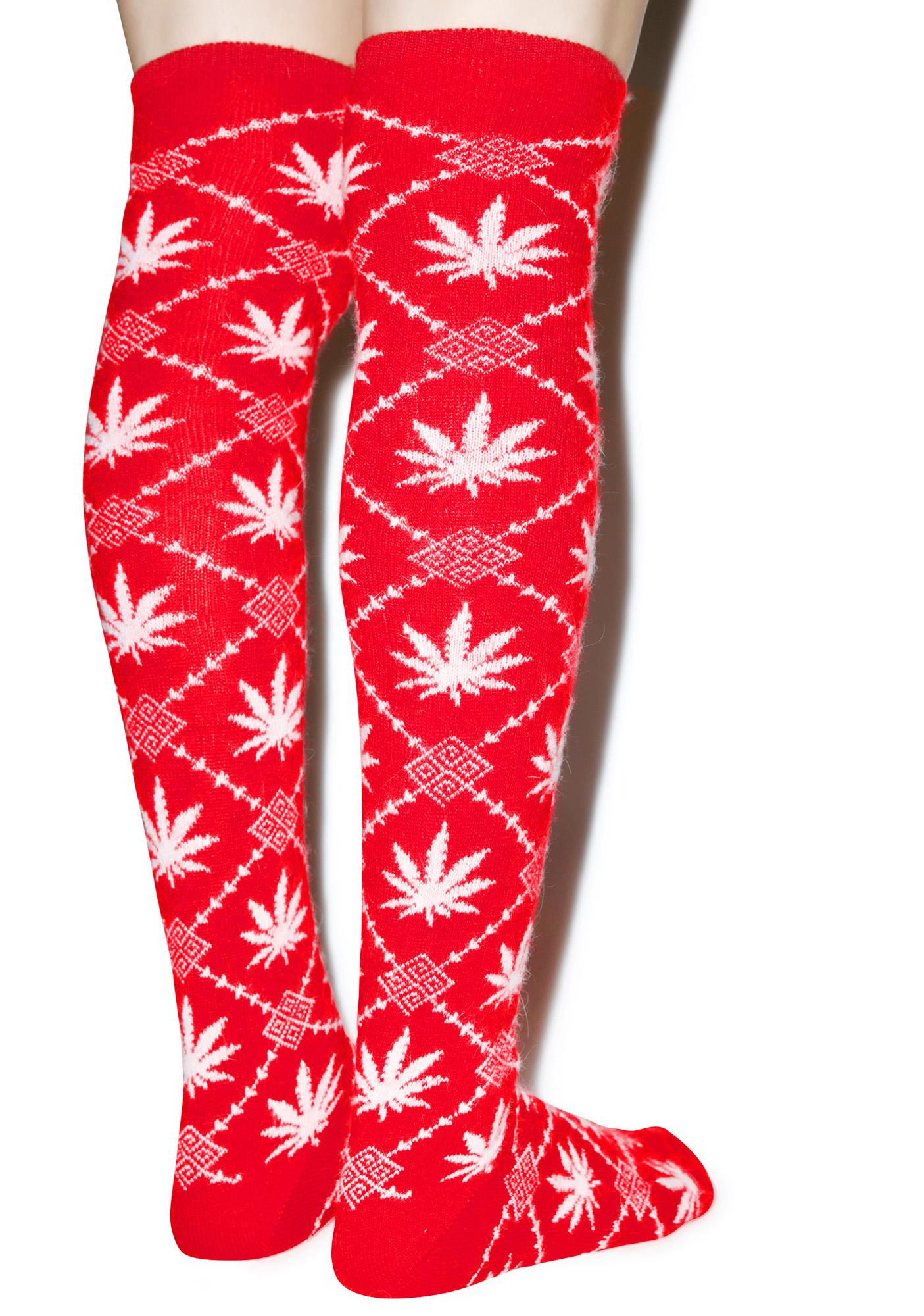 HUF Angora Thigh High Nordic Socks