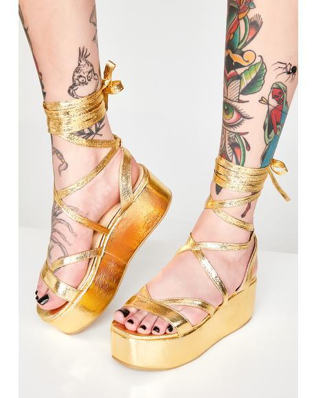 Sun Goddess Platform Sandals