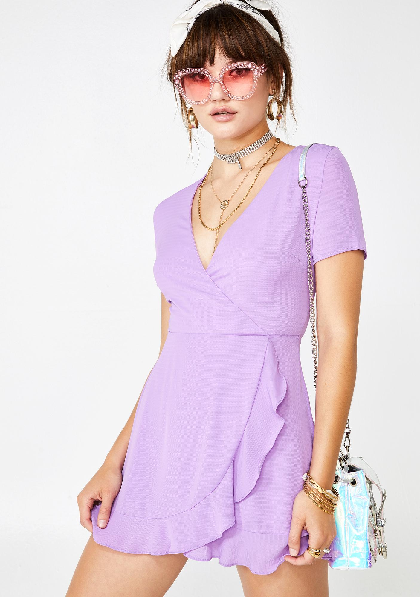 Grape Summa Shenangians Wrap Dress
