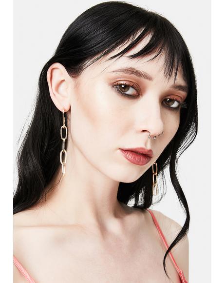 By Design Chain Link Earrings