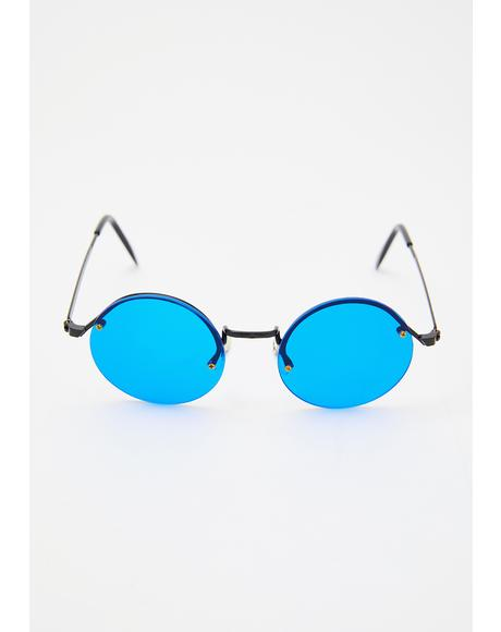 Blue Rounders Sunglasses