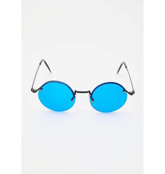 Replay Vintage Sunglasses Blue Rounders Sunglasses