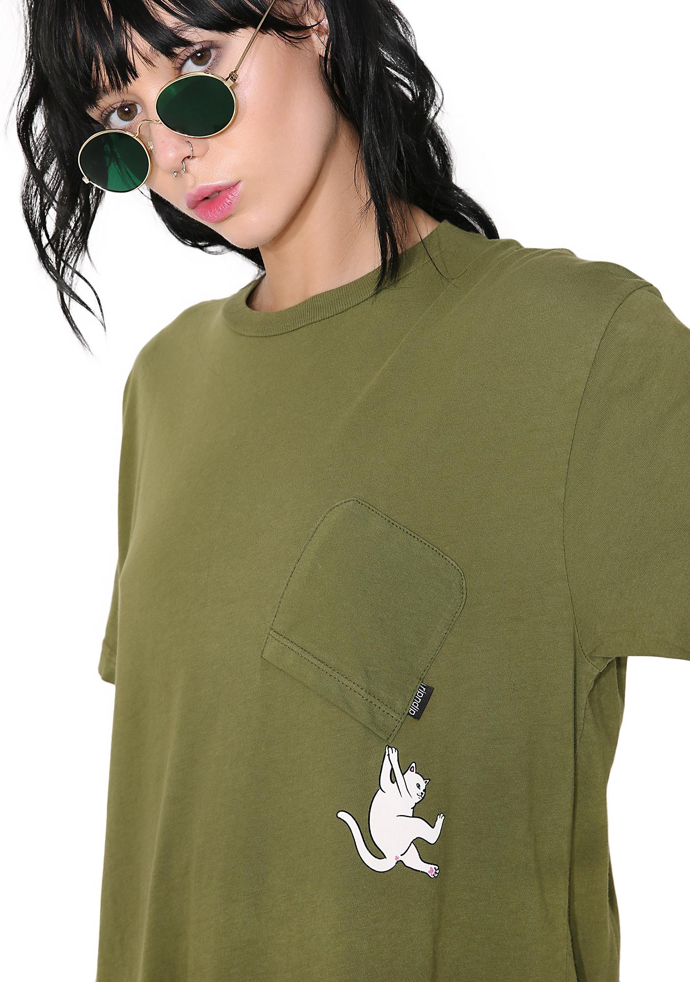 RIPNDIP Hang In There Pocket Tee