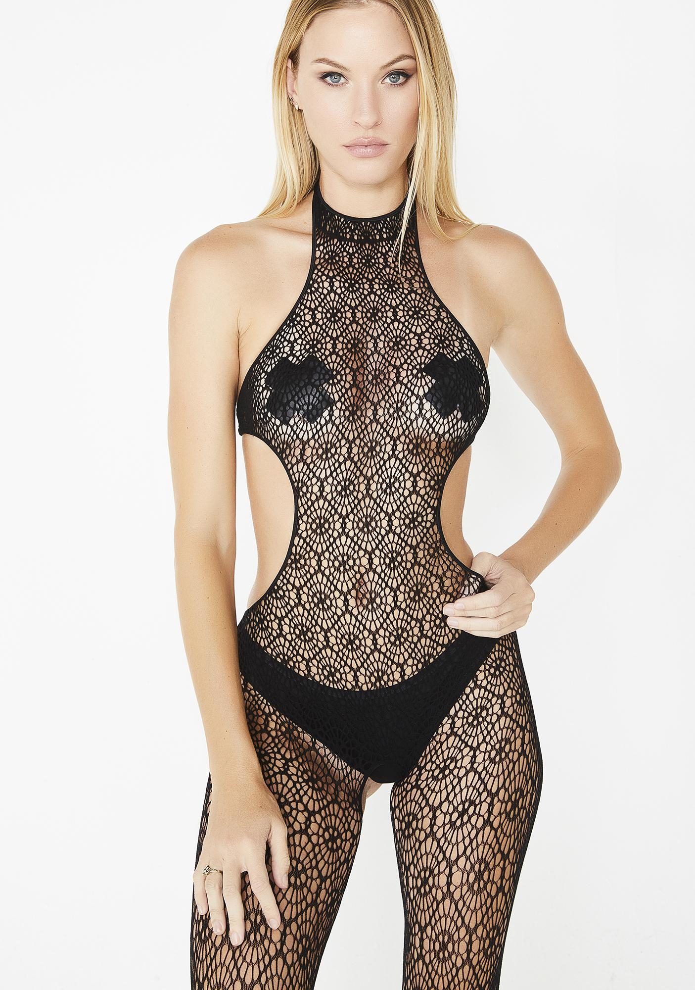 976245c53 Halter Crotchless Crochet Bodystocking