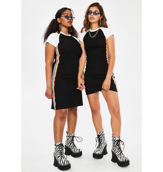 dELiA*s by Dolls Kill BB Our Lips Are Sealed Mini Dress