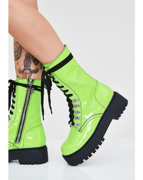 Slime Stompers Combat Boots