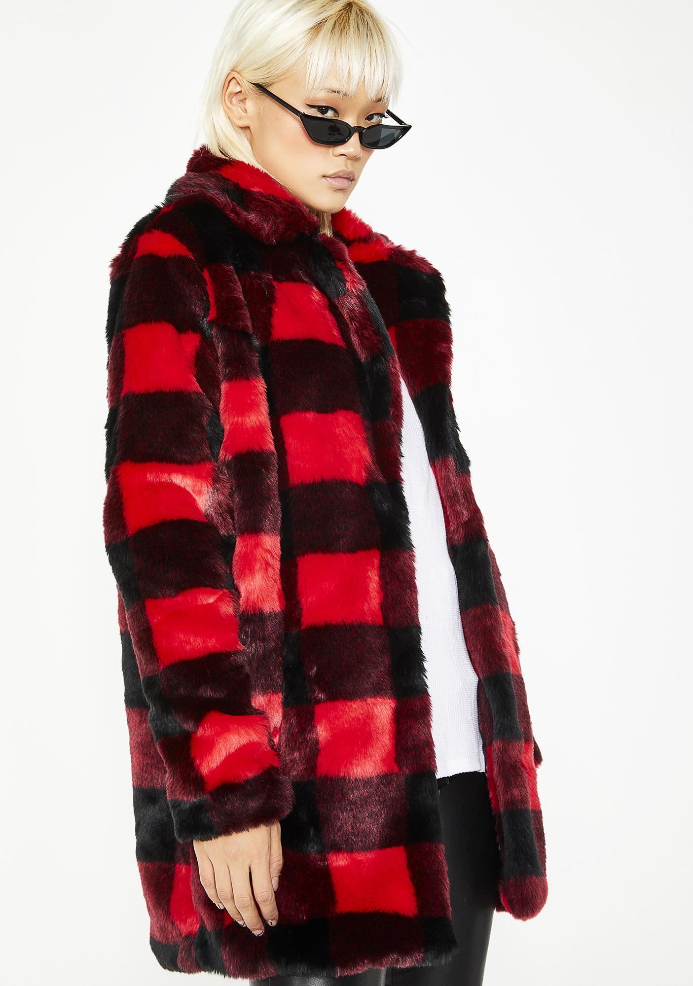 Current Mood No Values Faux Fur Jacket
