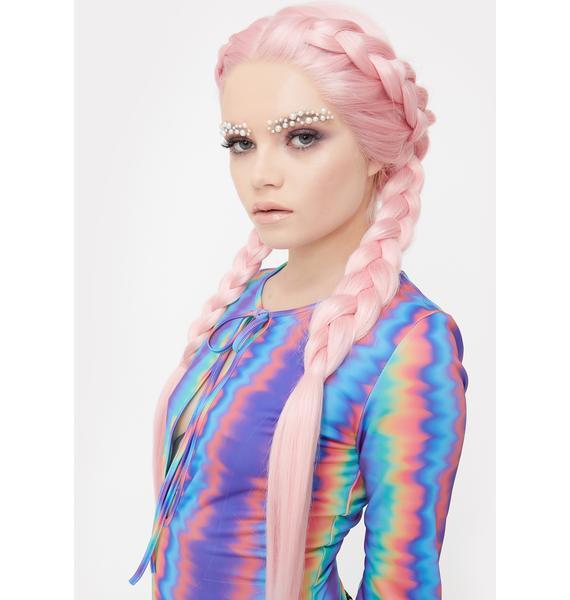 Lit Unicorns Candy $tripper Lace Front Wig