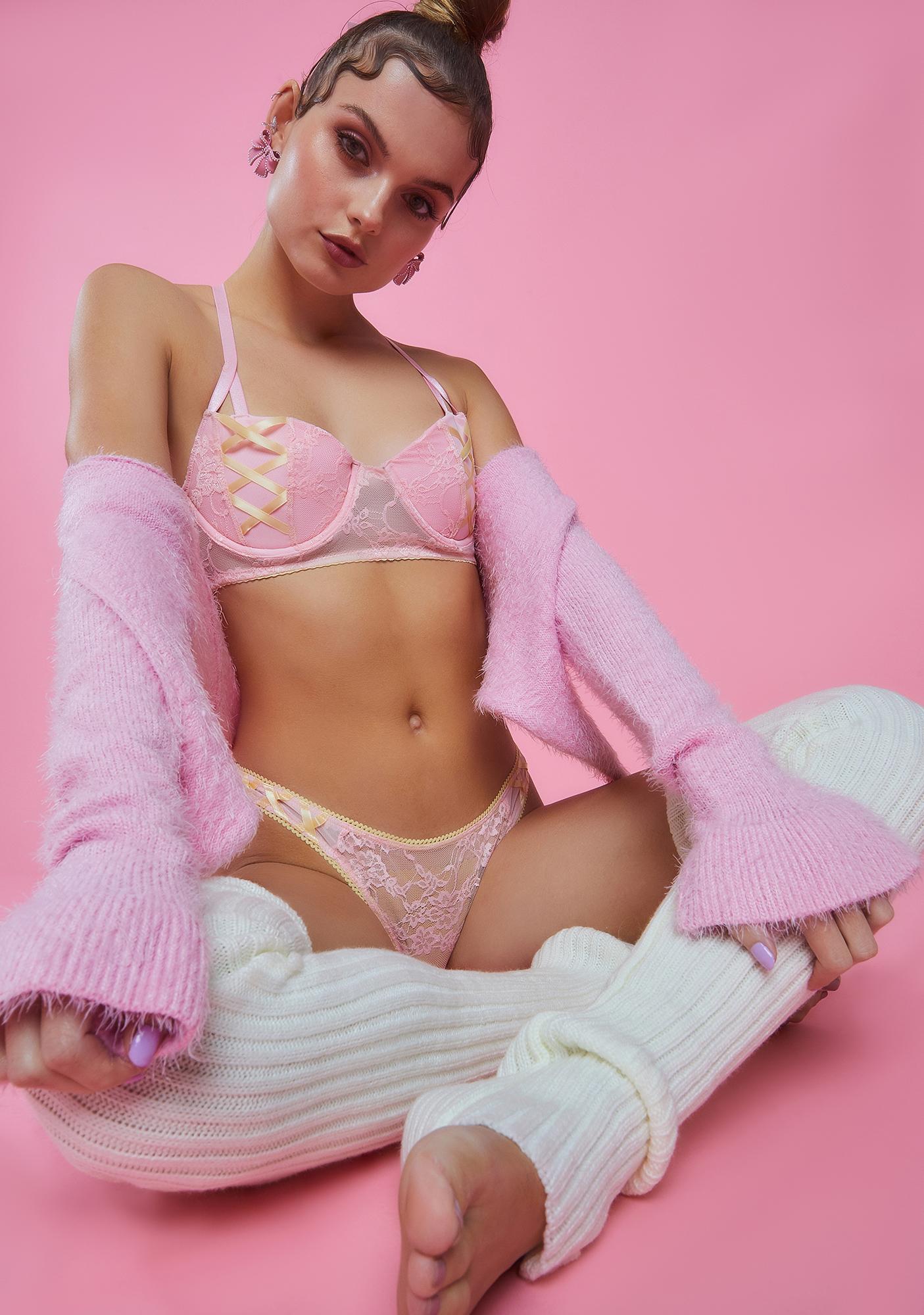 Sugar Thrillz Pink Lemonade Underwire Bra Top