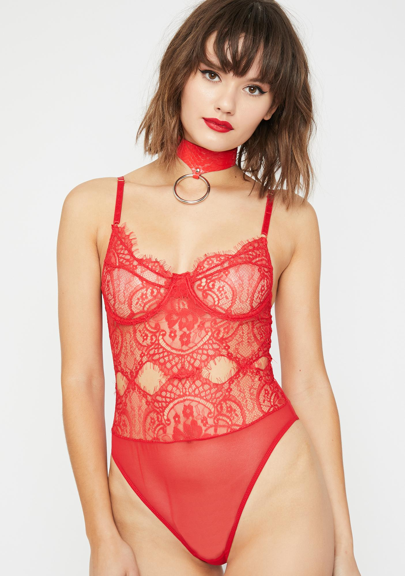 Thirst Sass Lace Bodysuit