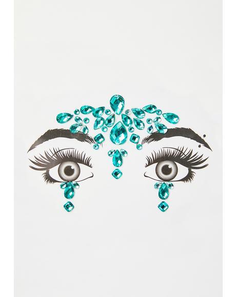 Aqua Cosmic Temple Face Gems