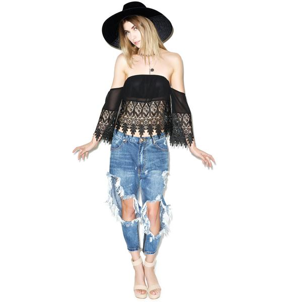 Over N' Out Lace Tube Top