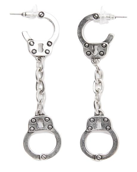 Near Escape Handcuff Earrings
