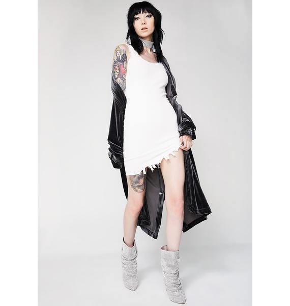 Kiki Riki Toughen Up Distressed Mini Dress