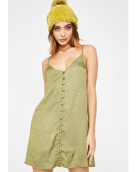 Khaki Cheetah Akina Dress