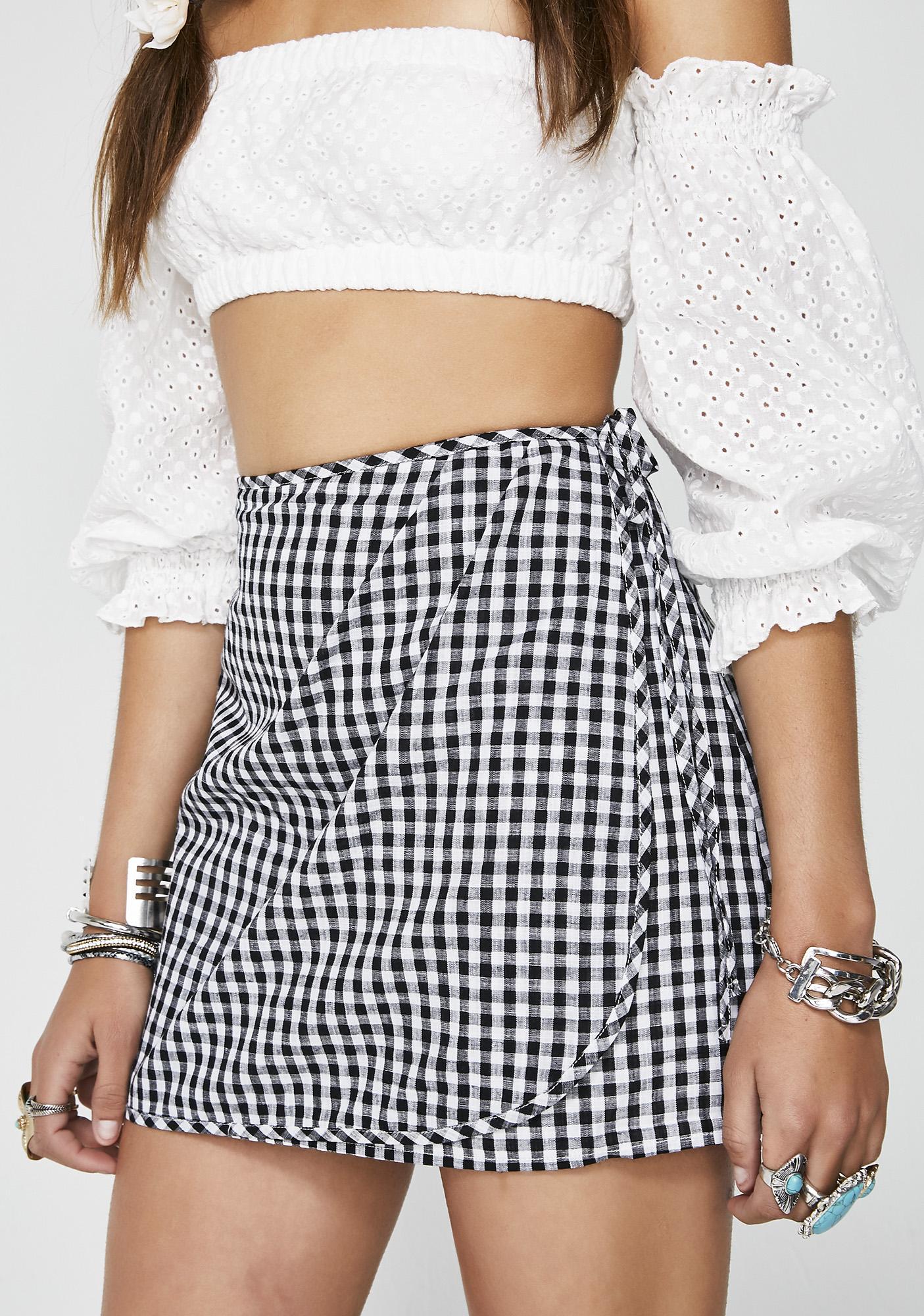 Ink Teach Me Wrap Skirt