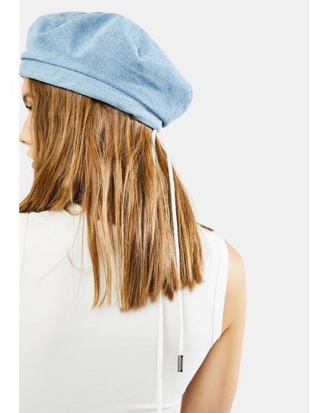 Sky All Star Denim Beret