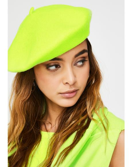 Lemon Fetch My Things Neon Beret