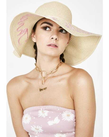 Throwing Shade Straw Hat
