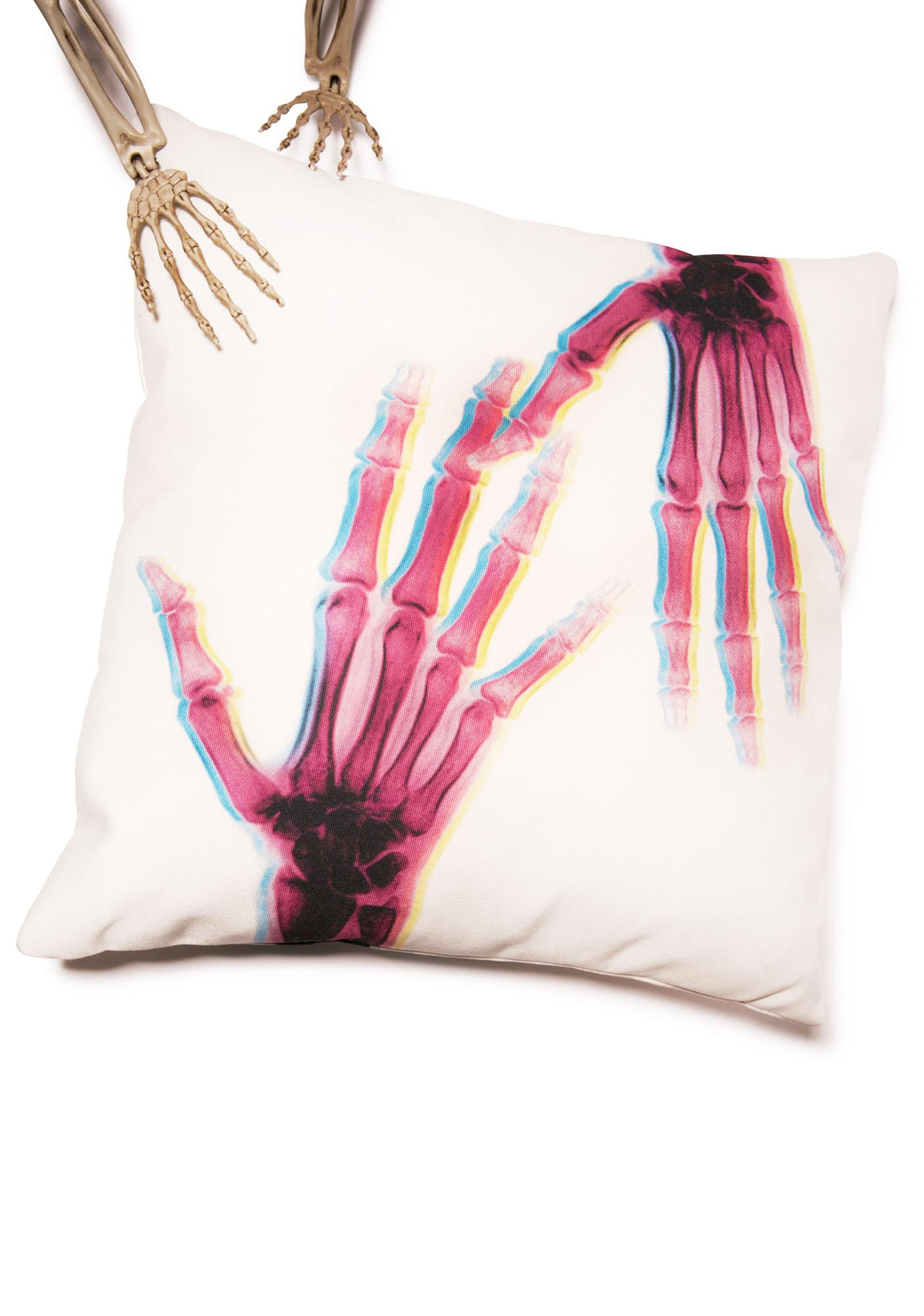 Idle Hands X-Ray Pillow