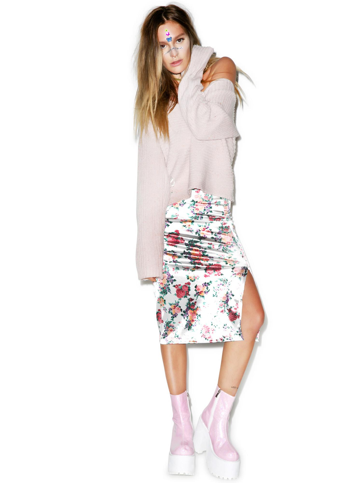 American Deadstock Sweet Thing Floral Midi Skirt