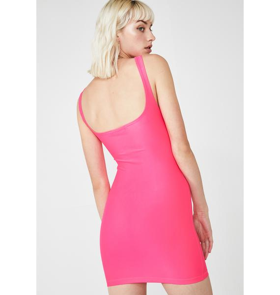 Motel Miss Hulana Cut Out Dress