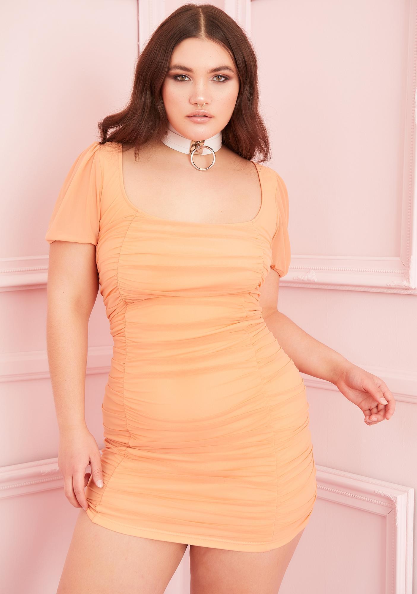 Sugar Thrillz Wild Juicy Tart Ruched Dress