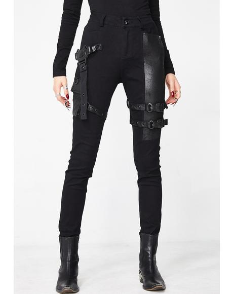 Futuristic Punk Tight Trousers