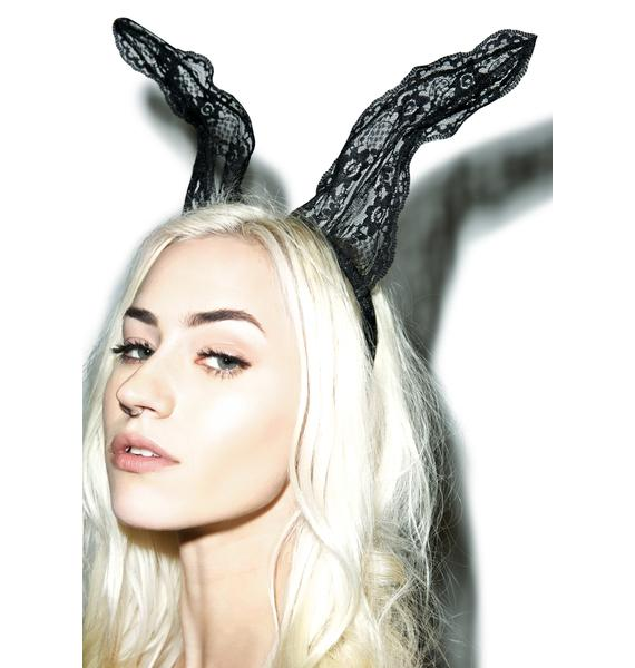 Play Girl Lace Bunny Ears