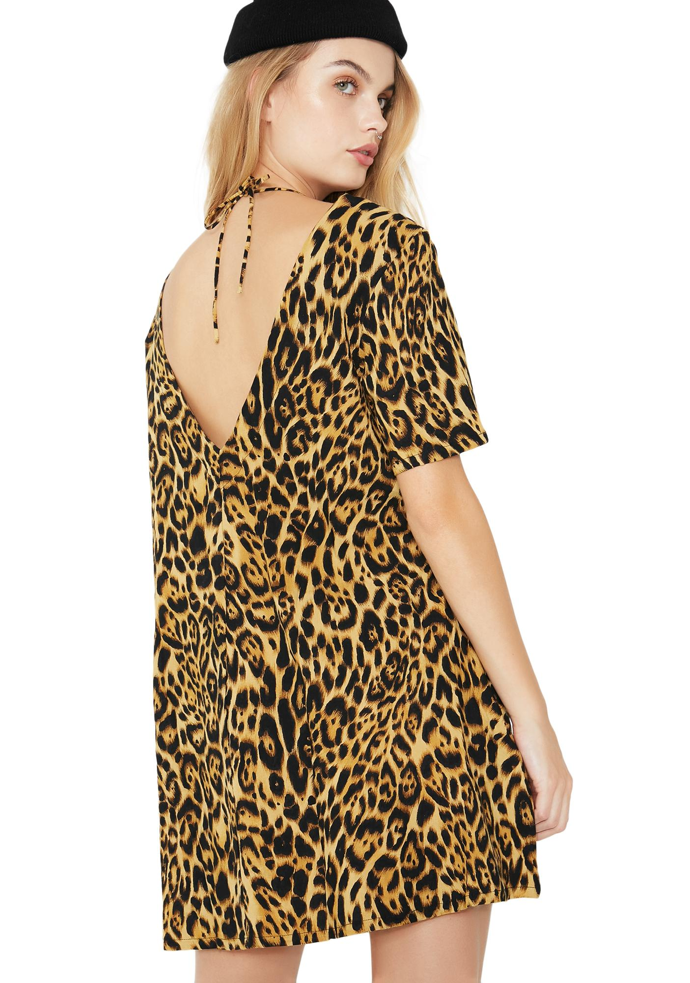 Motel Leopard Crosena Babydoll Dress