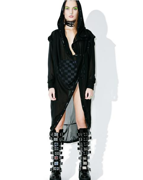 Darkness Falls Sheer Trench Coat