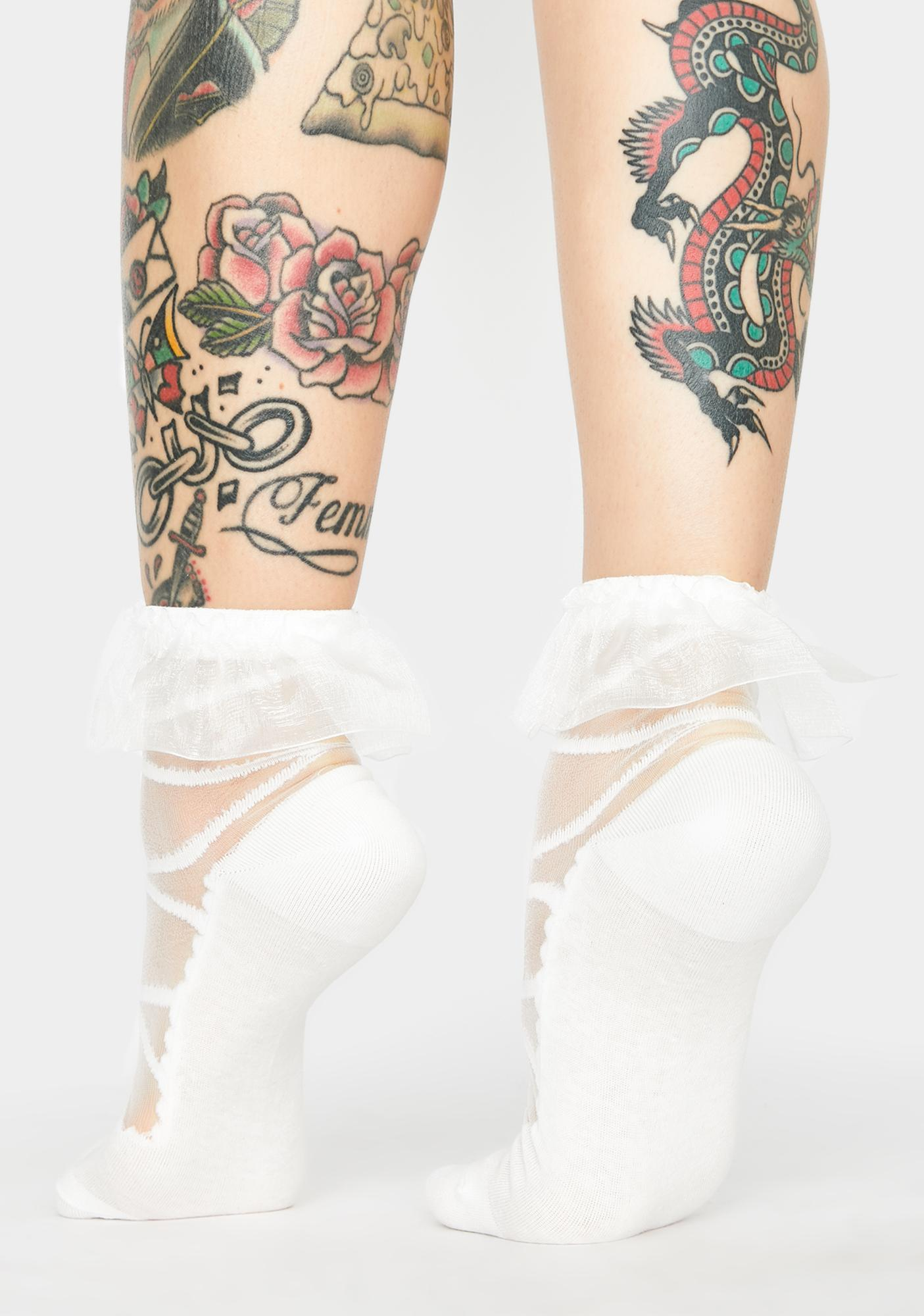 Purely Your Babydoll Sheer Ankle Socks