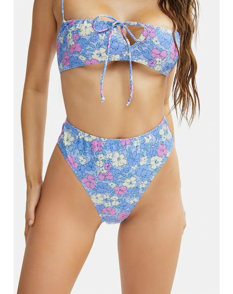 Pastel Floral Carmeson Bikini Bottoms