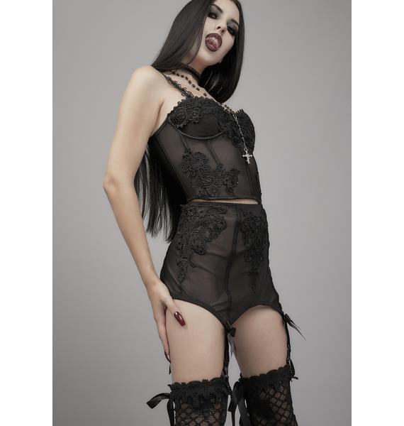 Widow Deadly Serious Garter Skirt