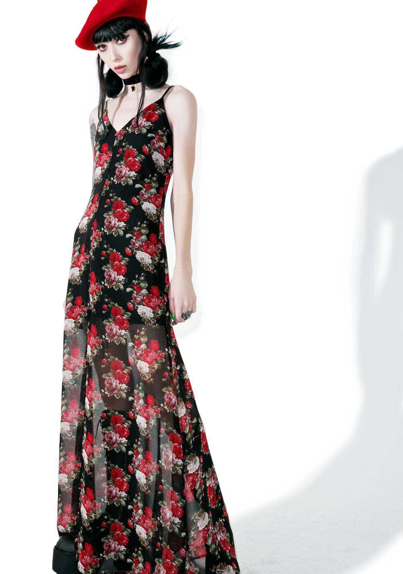 Dawn Roses Maxi Dress