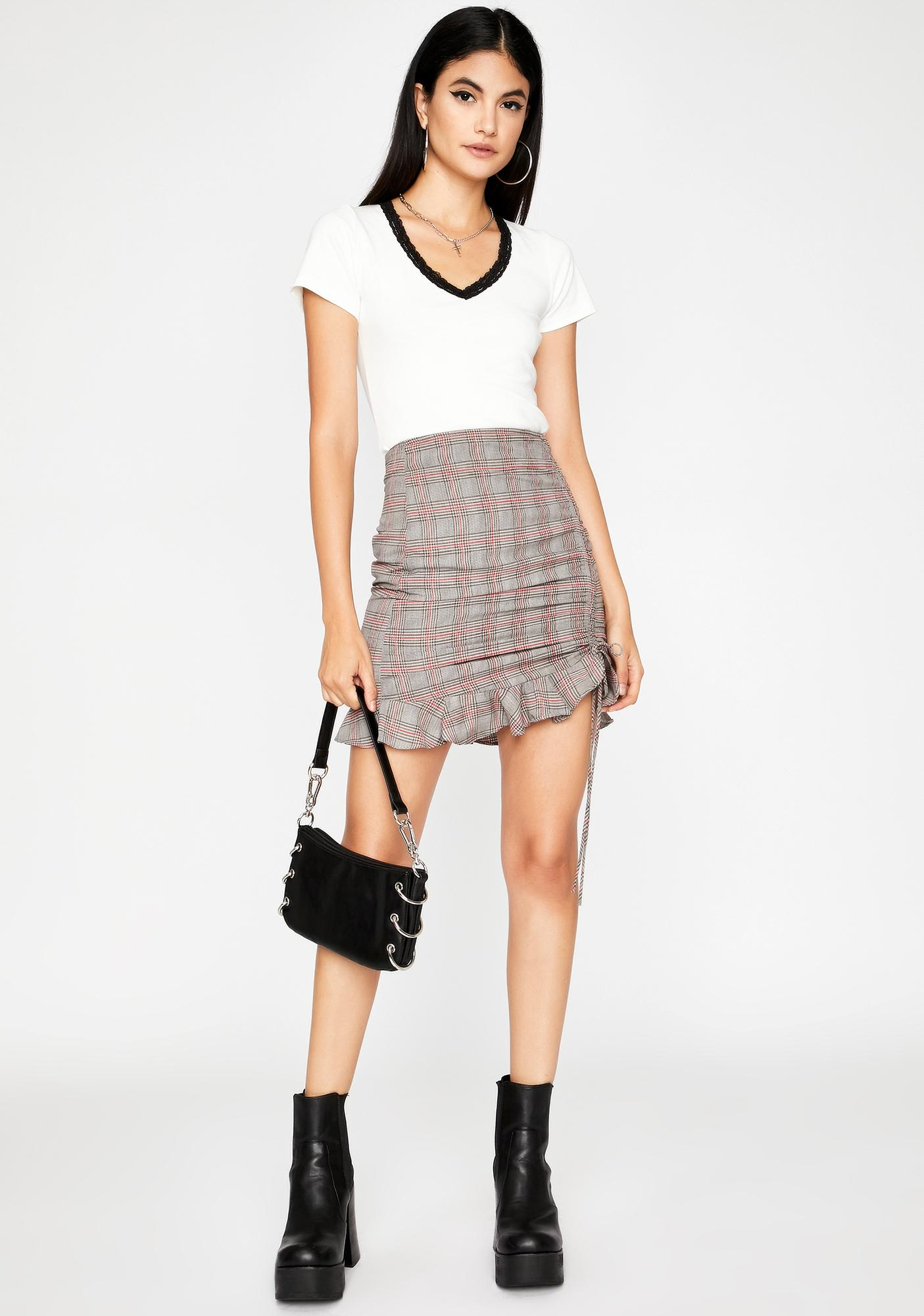 Skip The Tricks Plaid Mini Skirt