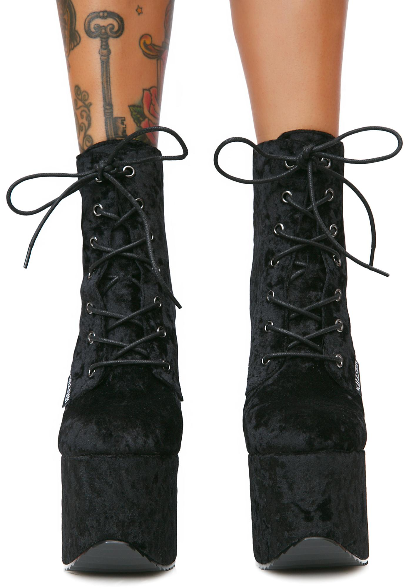 Killstar Hell-O Platform Booties